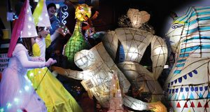 Montage from Wolverton Lantern Festival