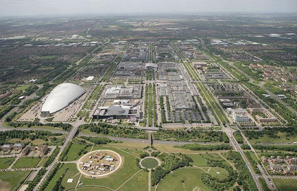 Aerial photograph of Milton Keynes City Centre