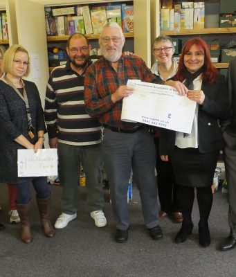 The Lions Club of Bletchley helped facilitate a £400 donation and a quantity of food from Merkan CIA