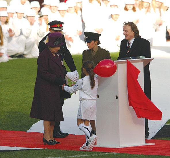The Queen visits Milton Keynes