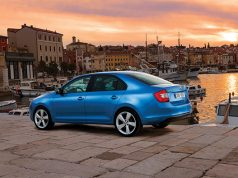 Skoda Rapid in blue
