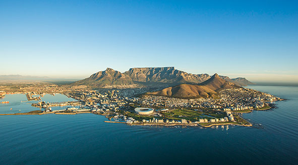 Aerial Photograph of Cape Town, South Africa