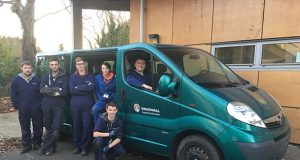 Vauxhall Vivaro van donated by their plant in Luton to Milton Keynes College