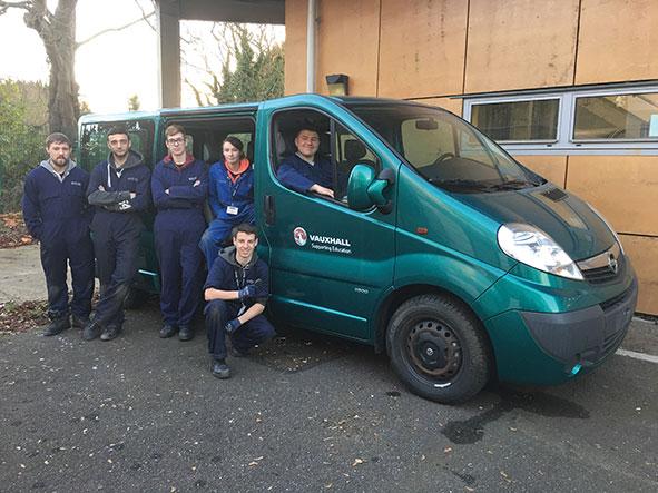 Vauxhall Vivaro van donated by their plant in Luton to Milton Keynes College