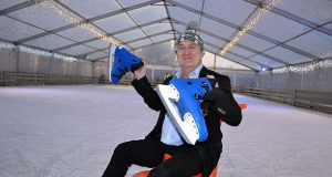 James Frost on the ice rink at Frosts