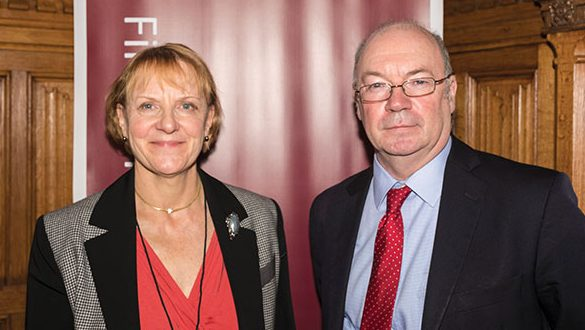 Mary Banham-Hall with MP for North Beds, Alistair Burt