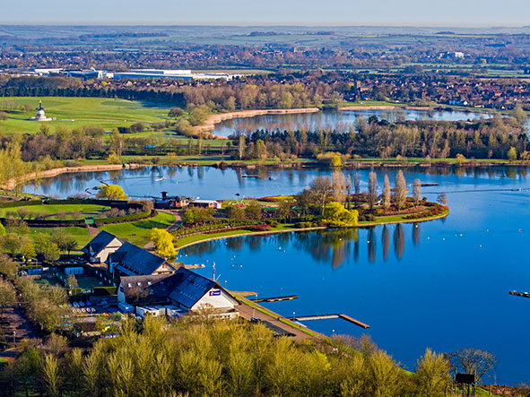 Willen lake from above