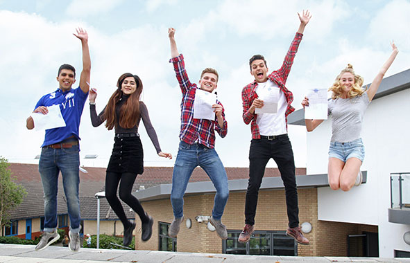 Denbigh School students celebrate exam results