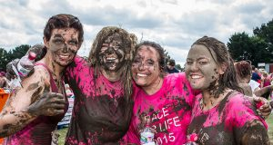 ladies enjoying race for life