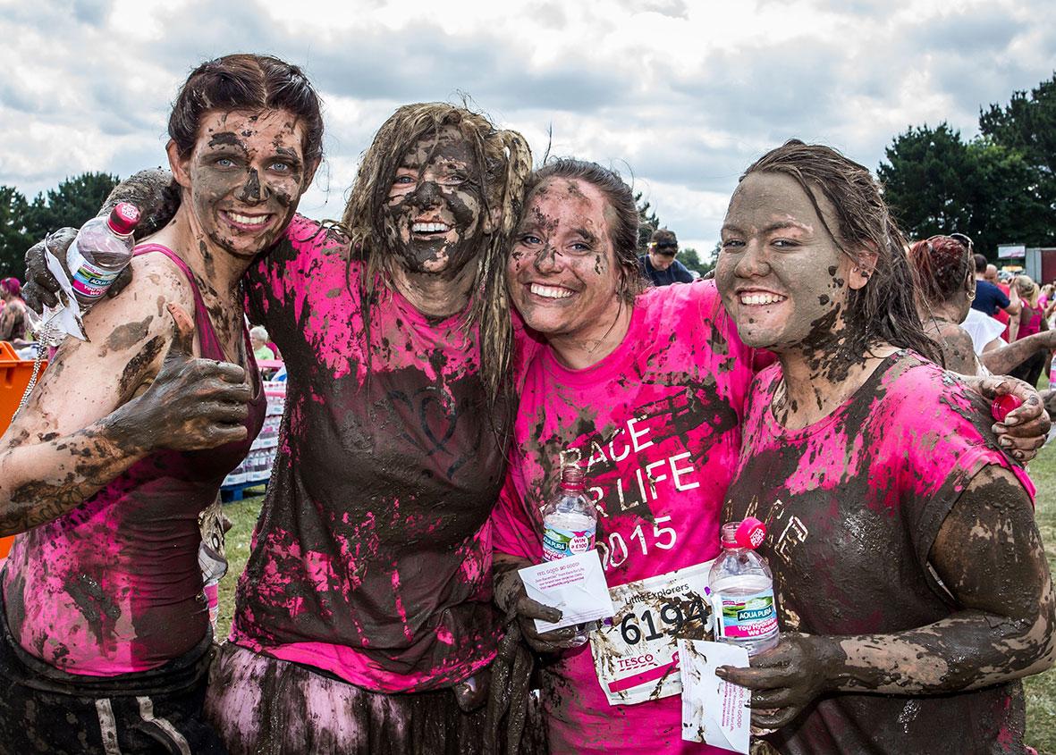 ladies enjoying race for life
