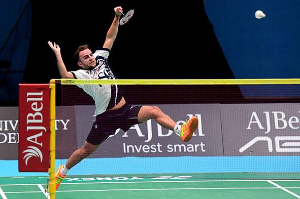 Ben Lane playing Badminton