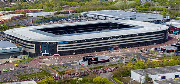 MK Marathon start line at Stadium MK