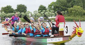 Dragon boat racing at a previous Milton Keynes Dragon Boat Festival courtesy Vanessa Barton Photography