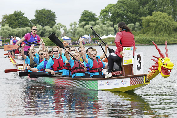 Dragon boat racing at a previous Milton Keynes Dragon Boat Festival courtesy Vanessa Barton Photography