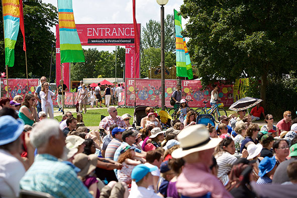 Crowds at IF: Milton Keynes International Festival 2016