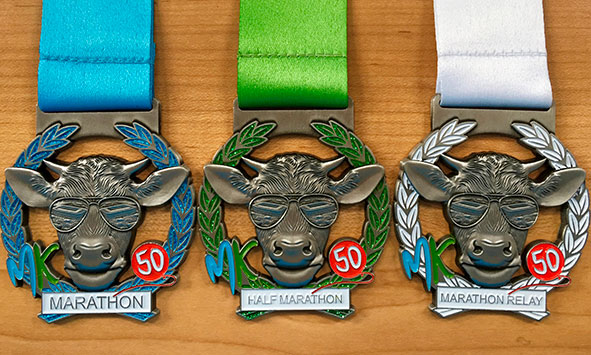 new medal designs incorporating the MK50 logo