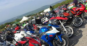 Motorbikes parked up