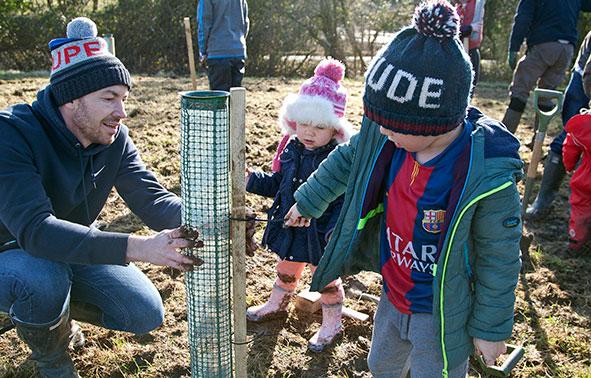 Planting trees at Marston Vale