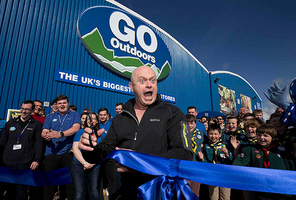 Ross Kemp opens Go Outdoors Milton Keynes