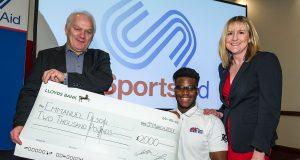 former Milton Keynes College Student awarded £2,000 from Milton Keynes Sporting Lunch Club