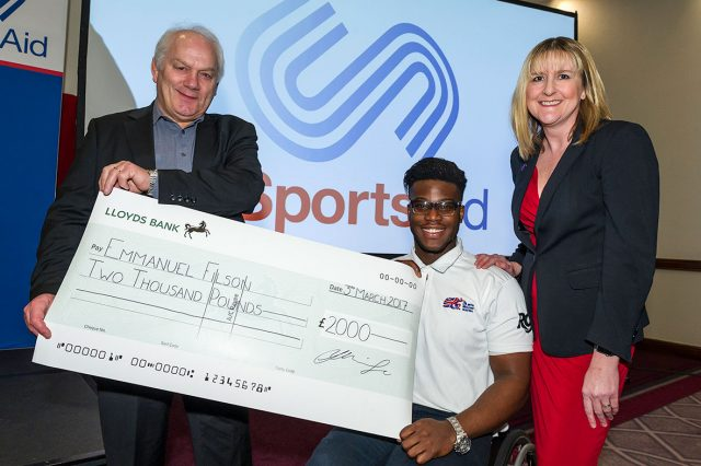 former Milton Keynes College Student awarded £2,000 from Milton Keynes Sporting Lunch Club