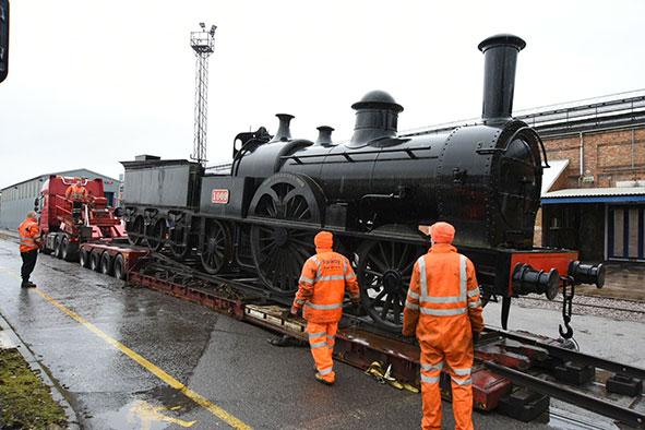 the Bloomer replica train for Milton Keynes Museum