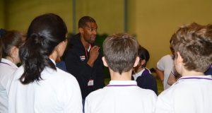 Alistair Patrick-Heselton speaking at The Webber School