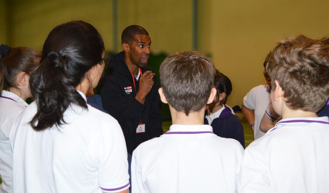 Alistair Patrick-Heselton speaking at The Webber School