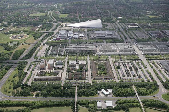 Milton keynes aerial view