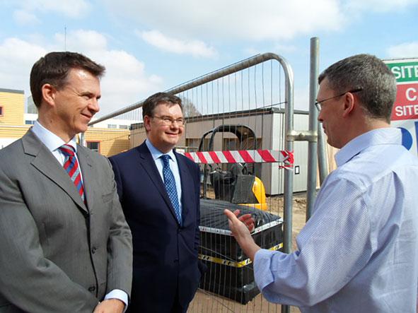 Mark Lancaster, Iain Stewart MP & Joe Harrison CEO