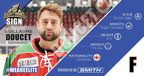 Canadian forward Guillaume Doucet to join MK Lightning