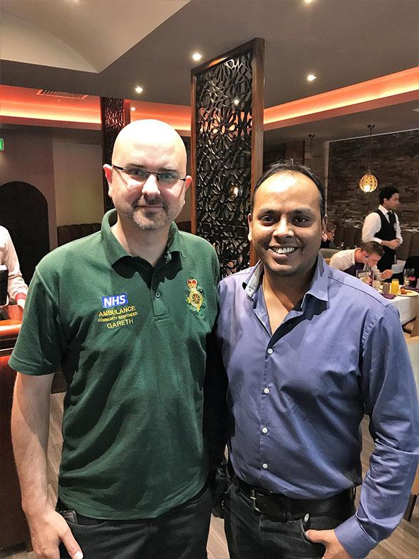 Community First Responder Gareth Brocklebank and Mo from Maaya