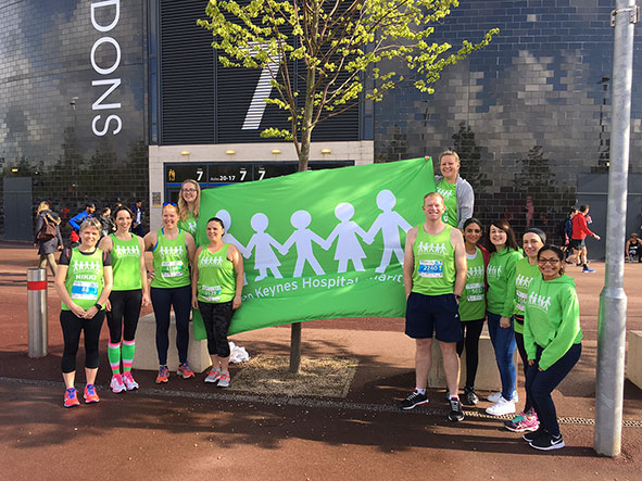 Runners raise more than £6,000 in sponsorship rolls in to help Milton Keynes University Hospital patients.