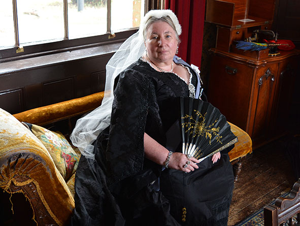 Queen Victoria at Milton Keynes Museum's Victorian weekend