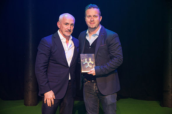 Vivion Cox and Barry McGuigan at Sports Tech Awards[1]