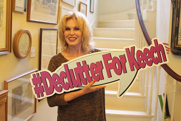Joanna Lumley backs #DeclutterForKeech