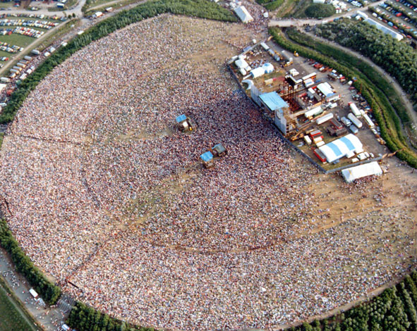 David Bowie concert at the MK Bowl in 1983