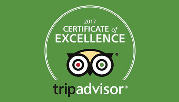 Trip Advisor certificate of Excellence for Rushmere Country Park