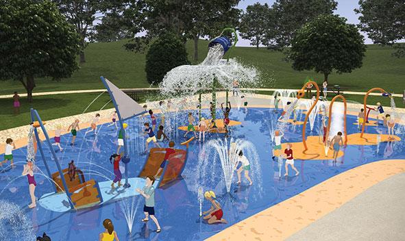 Willen Lake's Splash and Play render