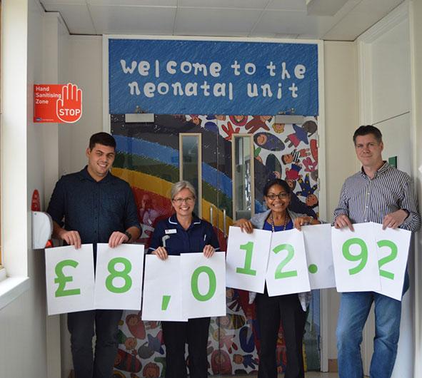 Over £8k raised for MK Hospital Charity