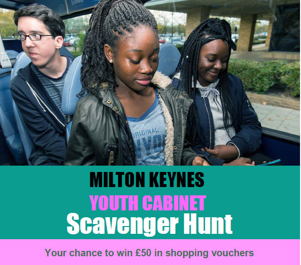 Scavenger hunt around MK to win a £50 shopping voucher
