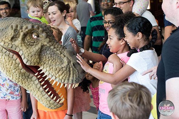 T-Rex visits Xscape this summer