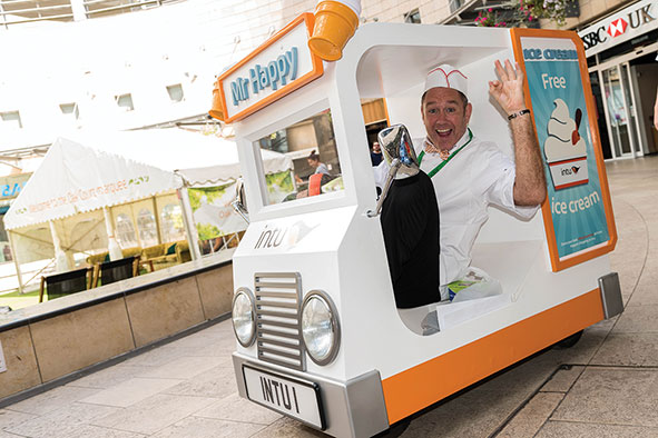 World's smallest ice cream van stops in Milton Keynes
