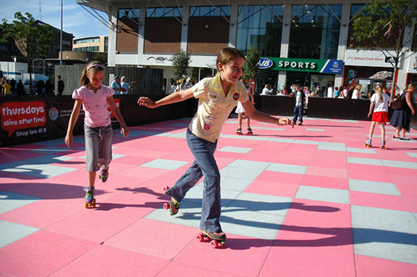 Roler rink at Xscape Milton Keynes
