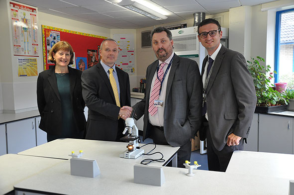 Denbigh School receive donation of microscopes