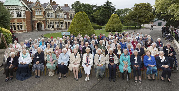 Veterans visit Bletchley Park