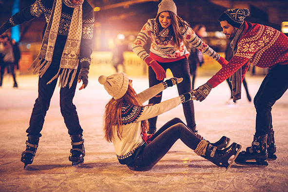 Ice skating at Frosts