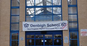 Denbigh School front doors