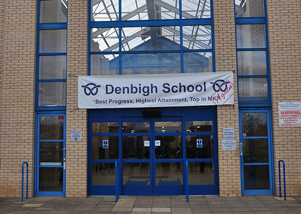 Denbigh School front doors