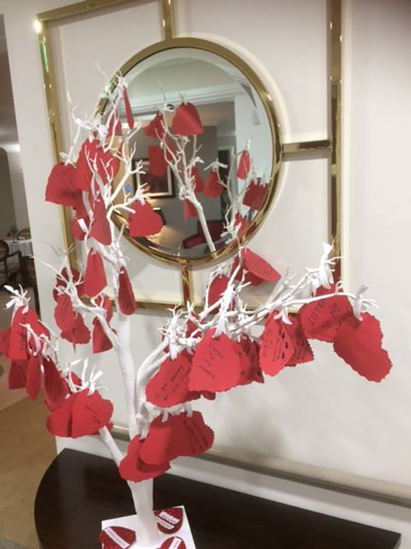 Dignity tree at Lakeview Lodge Care Home